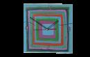 שעון מרובע MDF